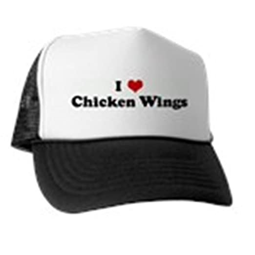 Amazon.com  CafePress - I Love Chicken Wings Trucker Hat - Trucker ... 9f95973b9d57