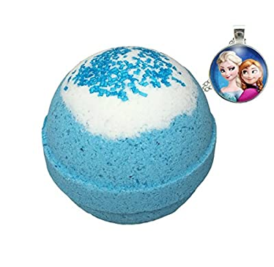 Frozen BUBBLE Bath Bomb with Surprise Necklace Inside