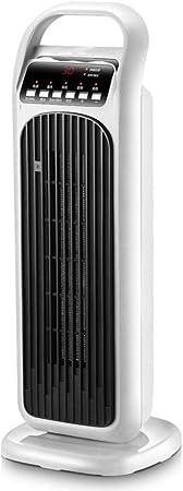 HM&DX Cerámica Pie Torre de Calefactor Ventilador con Mando