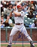 Signed Conor Jackson Photo - At Bat 8x10 W coa - Autographed MLB Photos