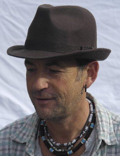 Chapeau Trilby en feutre classique marron taille 57 cm (M)