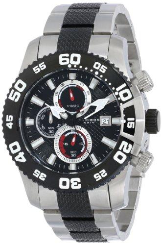 Akribos XXIV Men's AK655TTB Conqueror Chronograph Stainless Steel Watch with Two-Tone Link Bracelet