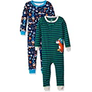 Carter's Baby Boys 2-Pack Cotton Pajamas, Tools/Tiger, 24 Months
