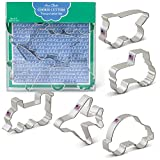Transportation/Vehicles Cookie Cutters - 5 Piece Boxed Set - Car, Airplane, Train, Truck, Tractor - Ann Clark - US Tin Plated Steel