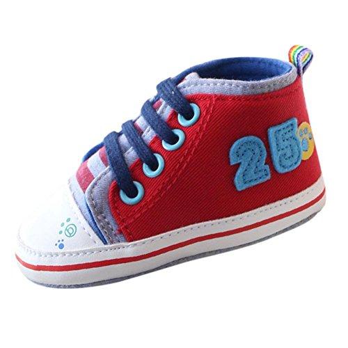 MiyaSudy Neugeborenen BabySchuhe Baby Jungen Anti-Rutsch Weiche Sohle Casual Sport Sneaker Schuhe Lauflernschuhe 0-18 Monate