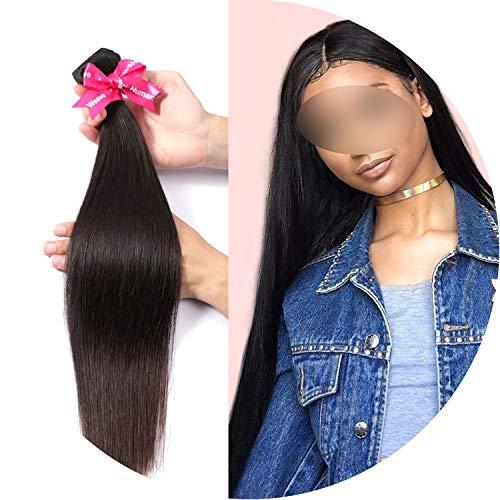Brazilian Hair Weave Bundles Unprocessed Virgin Hair Weave Natrual Straight Human Hair Extensions 30 Inch Bundles 1 3 4Pcs,12 14 16