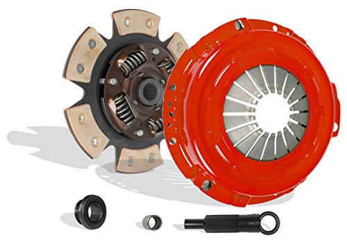 Clutch Kit Set Works With Ford Ranger Bronco II Eddie Base S XL XLT XLS 1983-1984 2.0L 2.3L L4 GAS SOHC 2.8L V6 GAS OHV 2.2L L4 DIESEL OHV Naturally Aspirated (Stage 2 6-Puck Disc)
