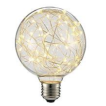 LED G95 Globe Spiral Design Lights Bulb, E26 300LM Antique Vintage Filament Starry Light Bulb( Warm Light)