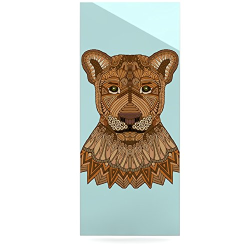 24 x 36 Kess InHouse Art Love Passion Lioness Blue Brown Luxe Rectangle Panel