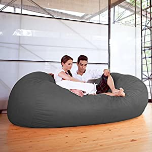Jaxx 7 ft Giant Bean Bag Sofa, Charcoal