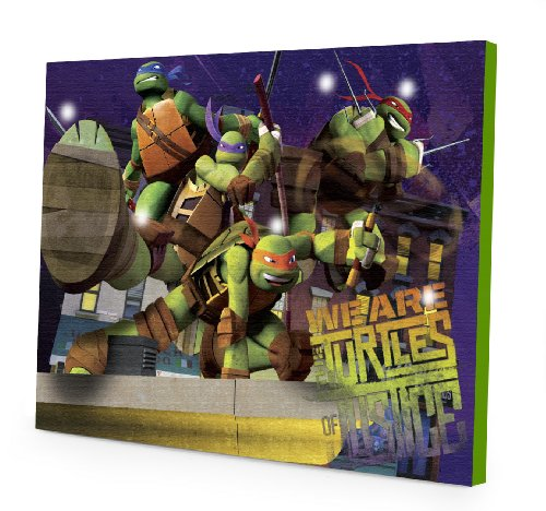 Nickelodeon Teenage Mutant Ninja Turtles LED Canvas Wall Art, 15.75-Inch x 11.5-Inch
