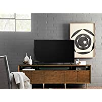 Hooker Furniture 84 TV Stand in Distressed Medium Wood
