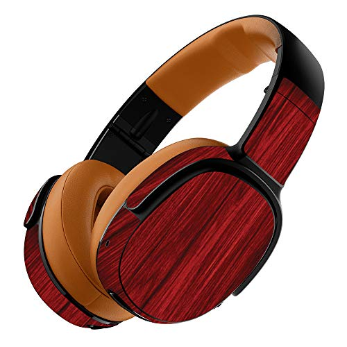MightySkins Skin Compatible with Skullcandy Crusher 360 Wireless Headphones - Cherry Grain   Protective, Durable, and Unique Vinyl wrap Cover   Easy to Apply, Remove   Made in The USA