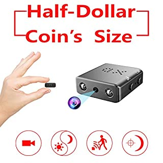 Smallest Spy Hidden Camera,Rettru XD Mini HD 1080P Small Micro Covert Nanny Camera with Night Vision and Motion Detection for Home Office Car Dash Security Surveillance Indoor Outdoor Spying