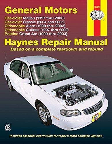 General Motors: Chevrolet Malibu (1997 thru 2003) Chevrolet Classic (2004 and 2005) Oldsmobile Alero (1999 thru 2003) Oldsmobile Cutlass (1997-2000) Pontiac Grand Am (1999 thru 2003) 1st edition by Storer, Jay (2005) Paperback