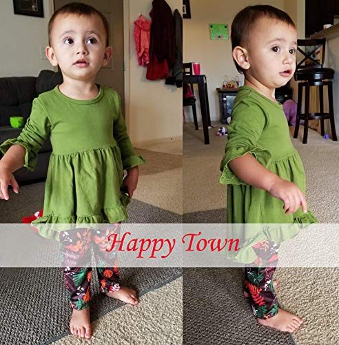 Baby Girl Clothes 2PCS Ruffle Outfits Short Sleeve Shirt Tops+Floral Denim Pants Ripped Jeans for Girls 1-4T