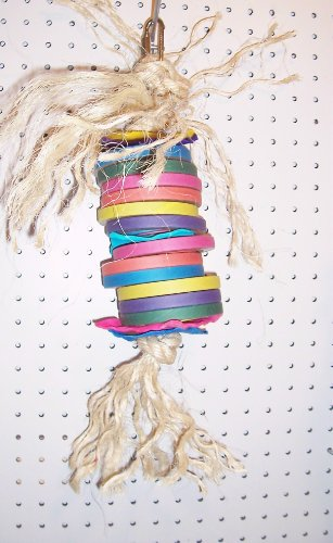 Bagel Stacker Bird Toy Parrots Macaws Cockatoos Extra Large 19'' Long by Jungle Beaks