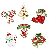 Christmas Brooch Set - Derhom Rhinestone Crystal Christmas Brooch Pin for Women Man - Best Gift for Xmas