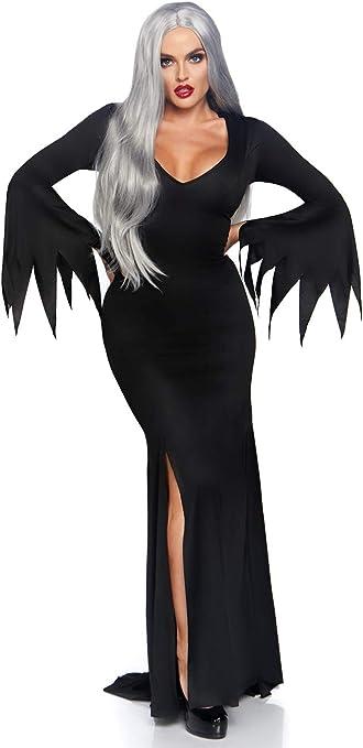Leg Avenue Women's Gothic Dress Adult Sized Costumes, Black, Medium Large US