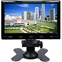 SallyBest® 9 Inch Ultra Thin 16:9 HD 800*480 TFT LCD Color Car Rear View Monitor 2 Video Input DVD VCD Headrest Vehicle Monitor Support Audio + Video + HDMI + VGA