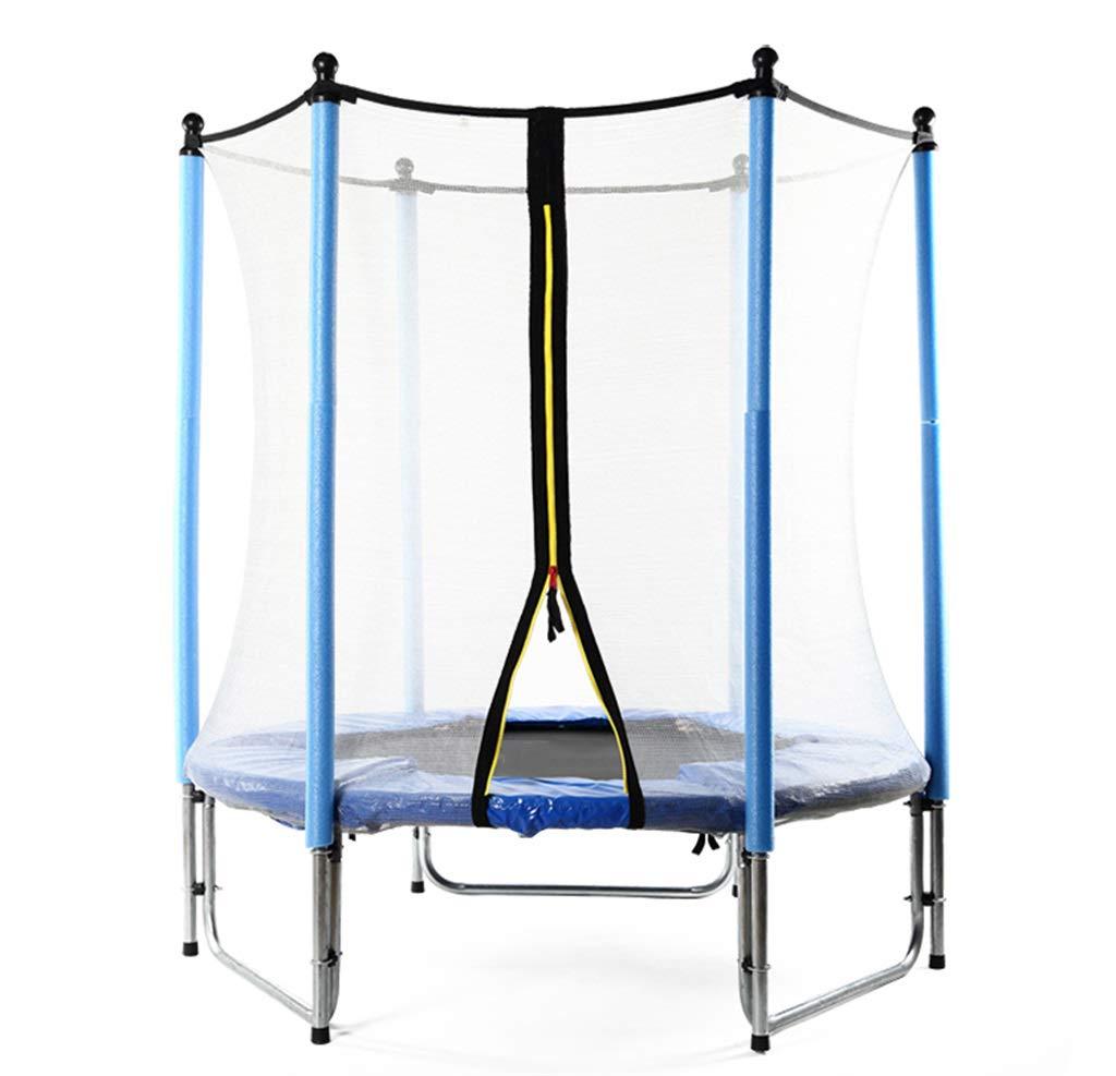 LKFSNGB Children's Trampoline with Safety Shield, Galvanized Steel - Ideal Indoor and Outdoor Garden Trampoline for Children's Birthday Gifts - 140cm by LKFSNGB