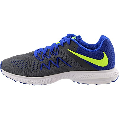 Nike Uomo Zoom Winflo 3 Scarpe Running Gris dark Grey Volt-racer Blue-white