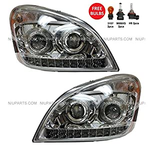 Freightliner Cascadia Headlight 2008-2015 with LED Driver and Passenger Side
