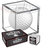 (6) Golf Ball Display Case Stackable Square Cube Holder Display Stand by BCW
