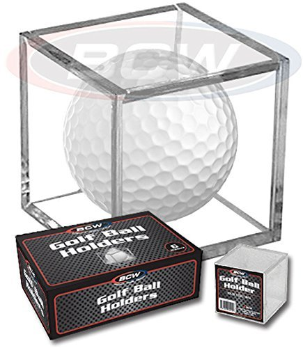 - (6) Golf Ball Display Case Stackable Square Cube Holder Display Stand by BCW
