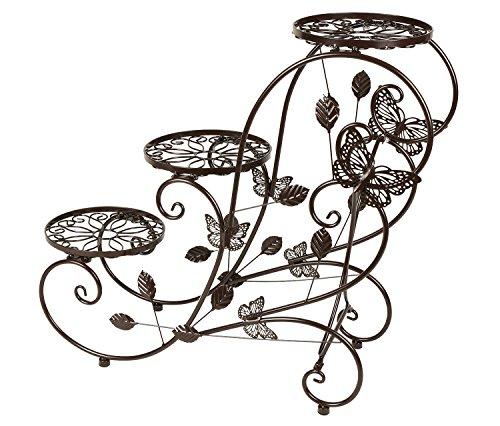 HLC 3 Töpf Metall Pflanzer Blumentänder Blumentreppe,stufenförmig