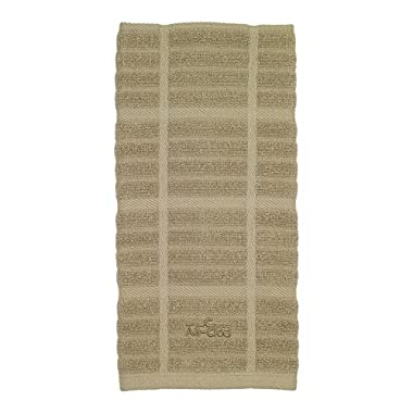 All-Clad Textiles 100-Percent Cotton Solid Kitchen Towel, Cappuccino