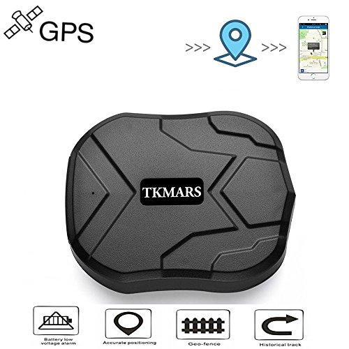 TKMARS GPS Tracker Waterproof Tracking Device 3 Months Standby Tracker Mini Portable Tracker Real Time Locator Powerful Magnet 5000mah Battery TK905 Vehicle Motorcycles Trucks by TKMARS
