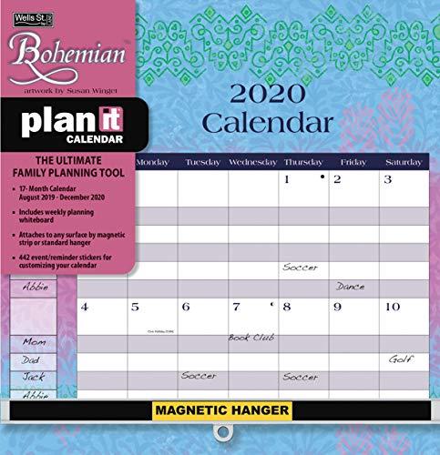 Wells Street by LANG WSBL Bohemian 2020 Plan-It Plus (20997009159) Academic Wall Calendar (20997009159) (Family Plan It Calendar)