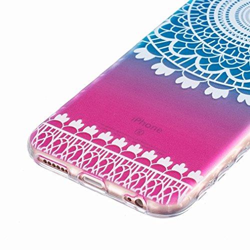 Ougger Apple iPhone 6s Plus 5.5 Custodia Case, Antigraffio Trasparente Cristallo Durevole Slim Morbido TPU Gomma Silicone Flessibile Protettivo Skin Shell Bumper Rear (Modello 1)