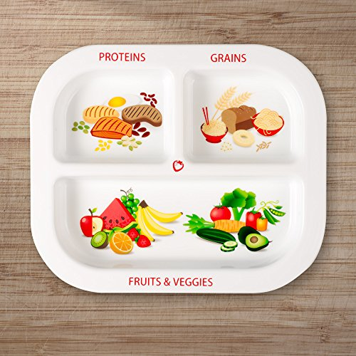 Healthy Habits Divided Kids Portion Plate 3 Fun
