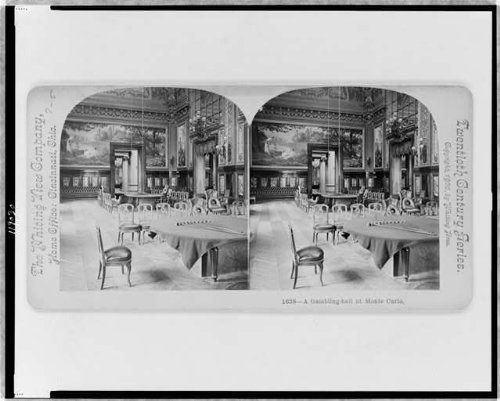 HistoricalFindings Photo: Photo of Stereograph,Gambling Hall,Monte Carlo,Monaco,Casino,c1900,Chairs