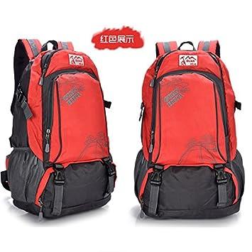 SQI Gran bolsa de montañismo impermeable outdoor montañismo deportes bolsa mochila, bolsa doble mujer mochilas
