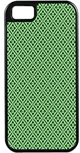 Blueberry Design iPhone 5 5S Case Cover Green Background Black Illustrations