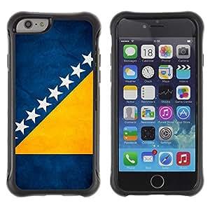Suave TPU GEL Carcasa Funda Silicona Blando Estuche Caso de protección (para) Apple Iphone 6 / CECELL Phone case / / National Flag Nation Country Bosnia and Herzegovina /