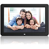 NEXGADGET 12 Inch Digital Photo Frame, High Resolution Electronic Picture Frame with Built-In Slideshow & Speaker, Support USB/SD/MMC