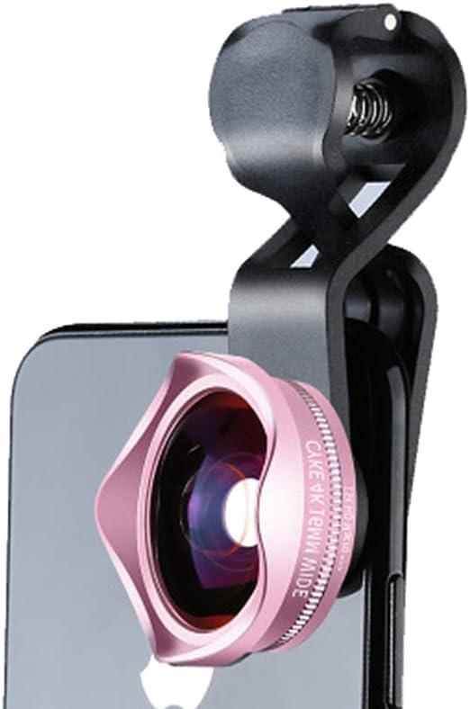 AA-SS-Wide Angle Lens Lente para teléfono móvil 4K Nuevo viñeteado sin distorsión óptica Gran Angular Macro 2 en 1 Auto-Temporizador Universal para Smartphone: Amazon.es: Hogar