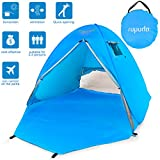 ROPODA Beach Tent, Portable Pop up Sun Shelter-Automatic Instant Family UV 2-3 Person Canopy Tent for Camping,Fishing,Hiking,Picnicing-Outdoor Ultralight Canopy Cabana Tents with Carry Bag(BLUE)