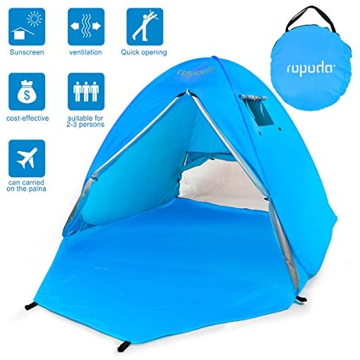 ROPODA-Beach-Tent-Portable-Pop-up-Sun-Shelter-Automatic-Instant-Family-UV-2-3-Person-Canopy-Tent-for-CampingFishingHikingPicnicing-Outdoor-Ultralight-Canopy-Cabana-Tents-with-Carry-Bag1