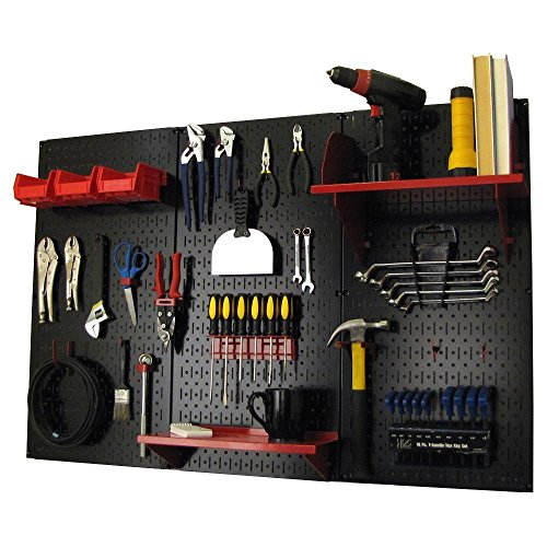 Wall Control Pegboard Standard Tool Storage Kit, Black/Red by Wall Control