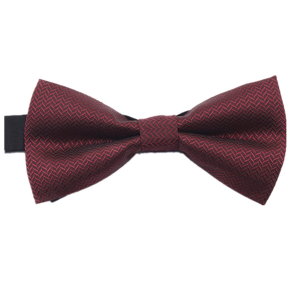 Men's Satin Formal Tuxedo Bowtie Adjustable Length Satin Bow Tie with Gift Box