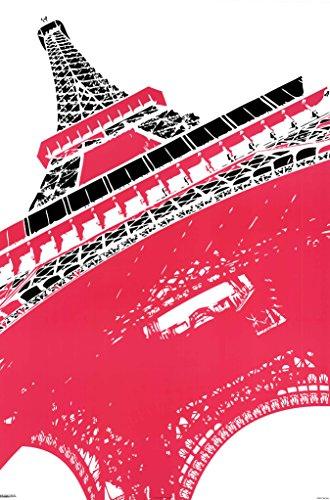 Eiffel Tower Paris France Pop Art Print Poster 24X36