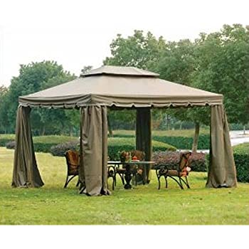 10 x 12 Scalloped Two-Tiered Gazebo Replacement Canopy  sc 1 st  Amazon.com & Amazon.com : Replacement Canopy for Home Depotu0027s Mediterra Gazebo ...