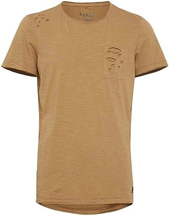 BLEND Camiseta Bolsillo Roto Marrón: Amazon.es: Ropa y accesorios