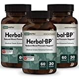 Herbal-BP Natural Blood Pressure Support with Stress Management - Medical Grade Botanical Extracts - Safe, Long-Term Support (3-Pack)