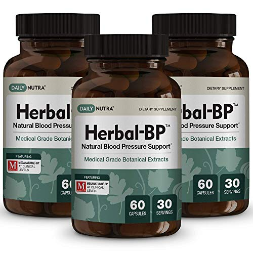 Herbal-BP Natural Blood Pressure Support with Stress Management - Medical Grade Botanical Extracts - Safe, Long-Term Support (3-Pack) by DailyNutra (Image #7)